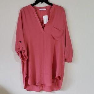 Lush maeve pink tunic top